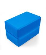 Adeco Blue High Density Exercise and Fitness Yoga & Pilates Blocks - Set... - $12.34