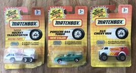 Lot of 3 MATCHBOX 1991 Vehicles NASA Rocket Xporter, Porsche 944 Turbo & 4x4 Van - $9.90