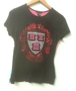 Custo Barcelona Unique Black Harvard Ve Ri Tas Cotton Top Women's Size S - $28.95