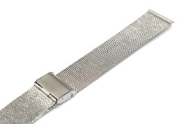 20MM Silver Stainless Steel Mesh Metal Buckle Watch Band Strap - $14.84