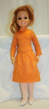 Vintage 1969 Crissy Doll Growing Hair Sleepy Eyes Groovy Dress 19 Inches - $69.29