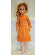 Vintage 1969 Crissy Doll Growing Hair Sleepy Eyes Groovy Dress 19 Inches - $69.29