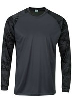 Sun Protection Long Sleeve Dri Fit Graphite Gray sun shirt Camo Sleeve SPF 50+ image 1