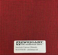 Interlock Needlepoint Canvas 18 Count Christmas Red  Custom Cuts  Blank Canvas  - $7.13+