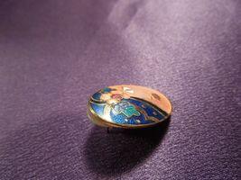 Vintage Enamel Gypsy Fortune Teller Face W/ Scarf Over Eye Oval Stud Earrings image 7