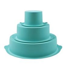 Webake 3 Tier Round Cake Mold Layer Cake Mold Bakeware Set for Birthday ... - $17.06