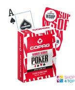COPAG WSOP WORLD SERIES OF POKER 100% PLASTIC JUMBO INDEX POKER CARDS DE... - $10.58