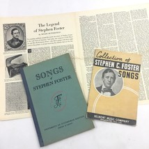 Vintage Stephen Foster Song Book Lot Music Booklet Saturday Evening Post... - $24.70