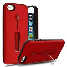 For APPLE iPhone SE/5S/5 Red/Black Finger Grip Hybrid Case Cover - $11.07