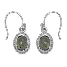 925 Sterling Silver 3.20 Carat Green Tourmaline Gemstone Earring For Women - $30.41