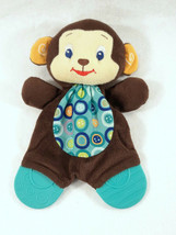 "BRIGHT STARTS TEETHER CRINKLE TUMMY BROWN MONKEY PLUSH TOY 9"" - $7.92"