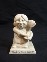 Russ Berrie World's Best Mother Figurine Vintage 1970 Made in USA - $9.85