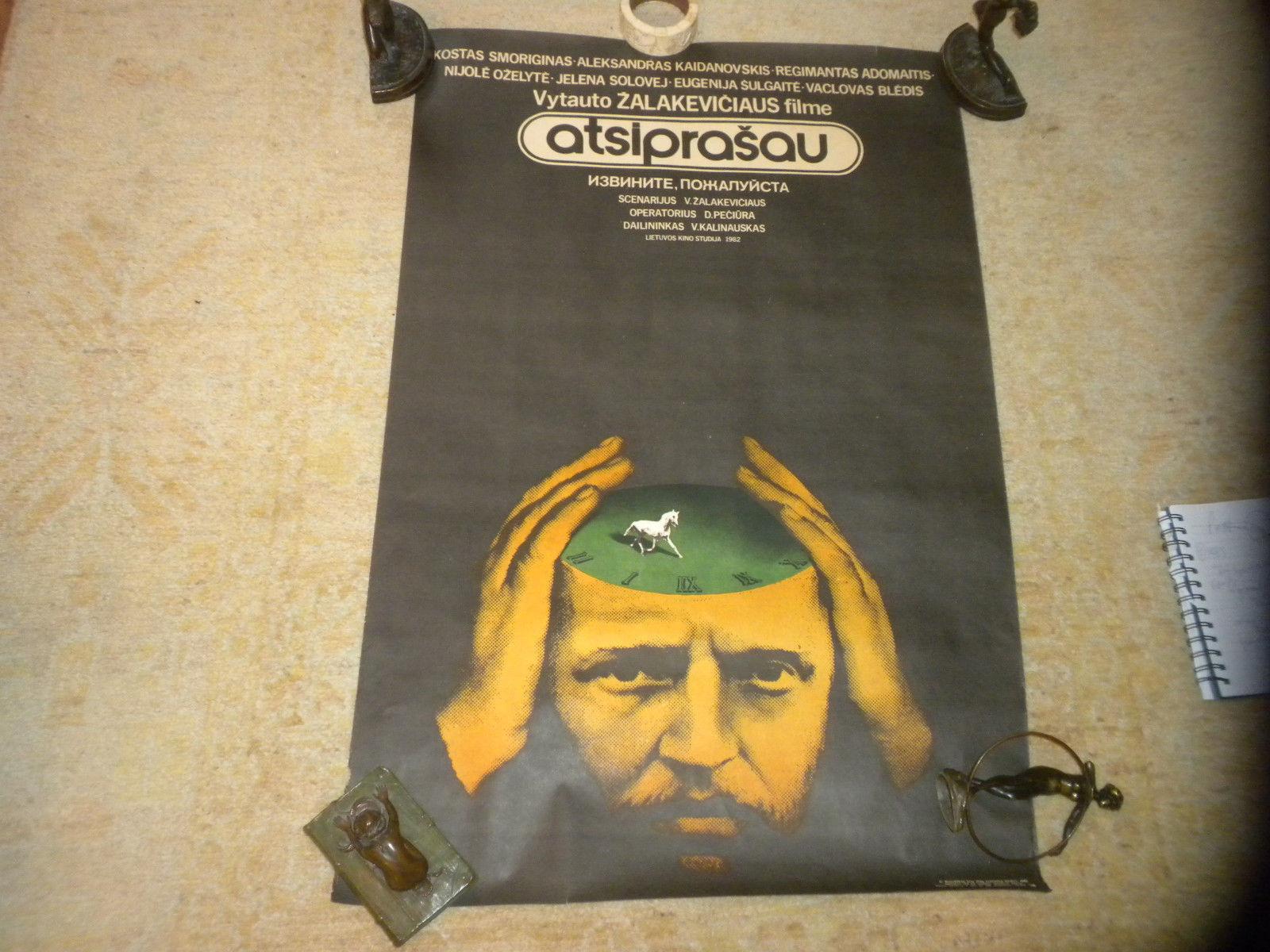 "original Lithuanian Film Poster Forgive Me (Atsiprasau) 23"" x 35""  1983 VG"