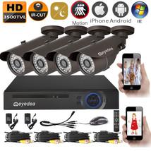 Eyedea 3500TVL 8CH Email Alert Motion Detect NVR DVR CCTV Security Camer... - $149.59
