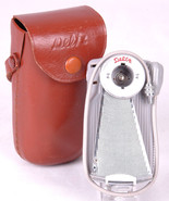 DELTA FAN OUT FLASH BULB UNIT-Brown Leather Case-Sync Cord-Vtg Photography - $23.36