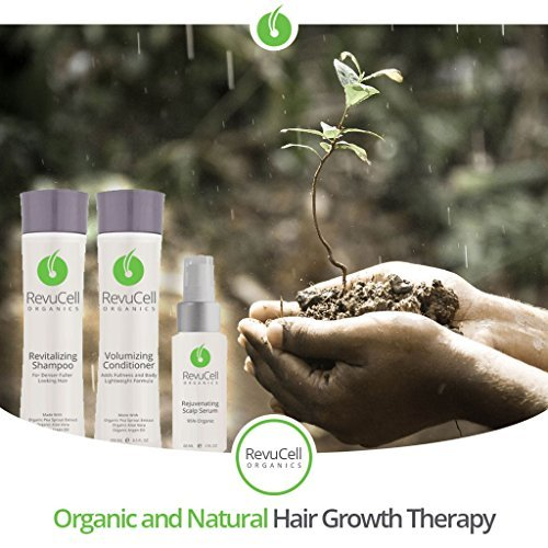 RevuCell Organics Hair Growth Treatment Kit - for Men & Women - Includes Revital