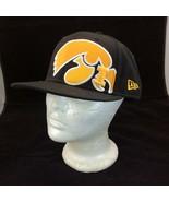 New Era Hat Cap Size 7 1/2 59Fifty Collegiate Wool Licensed Black Orange I - $39.55