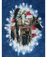 Stars and Bars Proud Native American and Flag Hand-Dyed T-Shirt NEW UNUSED - $14.50