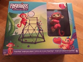 Pink Aimee Monkey Bar Playset - FINGERLINGS - Interactive Pet Baby Monke... - $23.36