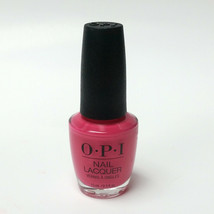OPI Nail Lacquer Polish Strawberry Margarita NL M23 Hot Pink Color 0.5 o... - $12.99