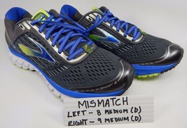 MISMATCH Brooks Ghost 9 Men's Running Shoes Size 8 M (D) Left & Sz 9 M (D) Right