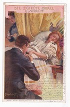 Vintage German Artist Signed Postcard Schubert Die Zwelte Frau - $6.78