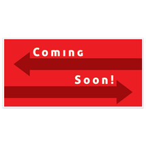 Red Arrows Coming Soon Business Window Display Retail Large Format Sign - $19.31+