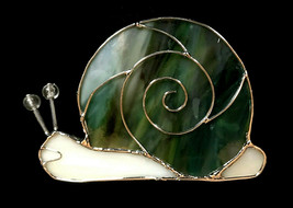 """Stained Glass Snail Votive Tealight Candle Holder 3 3/4"""" x 4"""" - $12.99"""
