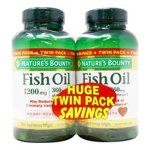 Nature's Bounty Fish Oil Twin Pack - 1,200 mg - Twin Pack - 180 Softgels... - $42.08