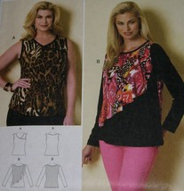 EASY Butterick PATTERN B6334  Misses'/Women's TOP Xsm to Xlg or Xxl to 6X  - $6.99