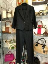 ST. JOHN Black Label Black Jacquard Jacket & Pant Suit Set Sz 14 $2000 - $614.69