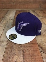 Florida Marlins New Era 59Fifty Authentic Hat Purple 7 3/8  - ₹710.45 INR
