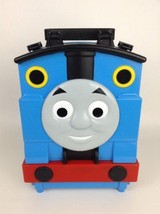 Mattel Thomas and Friends Toy Train Vehicle Case Playset Blue Track w/ D... - $21.73