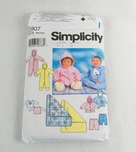 Infant Sewing Pattern Baby Hooded Romper Blanket Jacket Simplicity 7807 Nb - $5.23