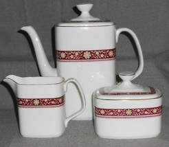 Royal Doulton MINUET PATTERN 3 pc Set COFFEE POT/CREAMER/SUGAR Made in E... - $148.49