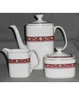 Royal Doulton MINUET PATTERN 3 pc Set COFFEE POT/CREAMER/SUGAR Made in E... - $148.49
