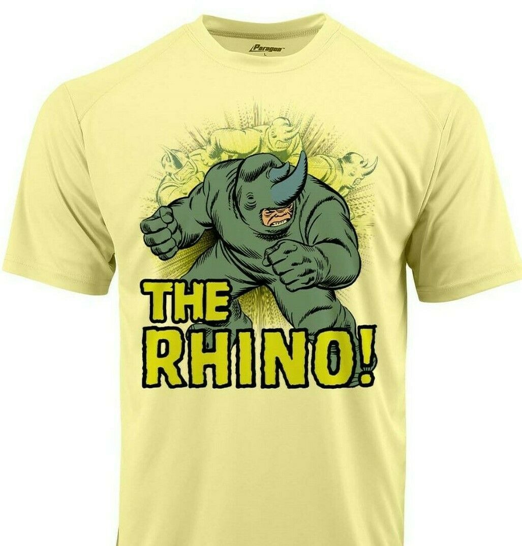 The Rhino Dri Fit graphic T shirt moisture wicking retro Marvel comics Sun Shirt