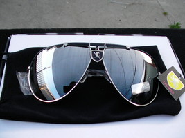 Khan aviator sunglasses Full mirror 400 uv protection sport style 93 - $12.95