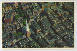 BOSTON MA Aerial View SALEM Street NORTH CHURCH Birds Eye View Postcard - $5.95