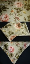 16X16 Toss Pillow Cover Sham New Ralph Lauren YORKSHIRE ROSE GREEN Fabric - $15.95