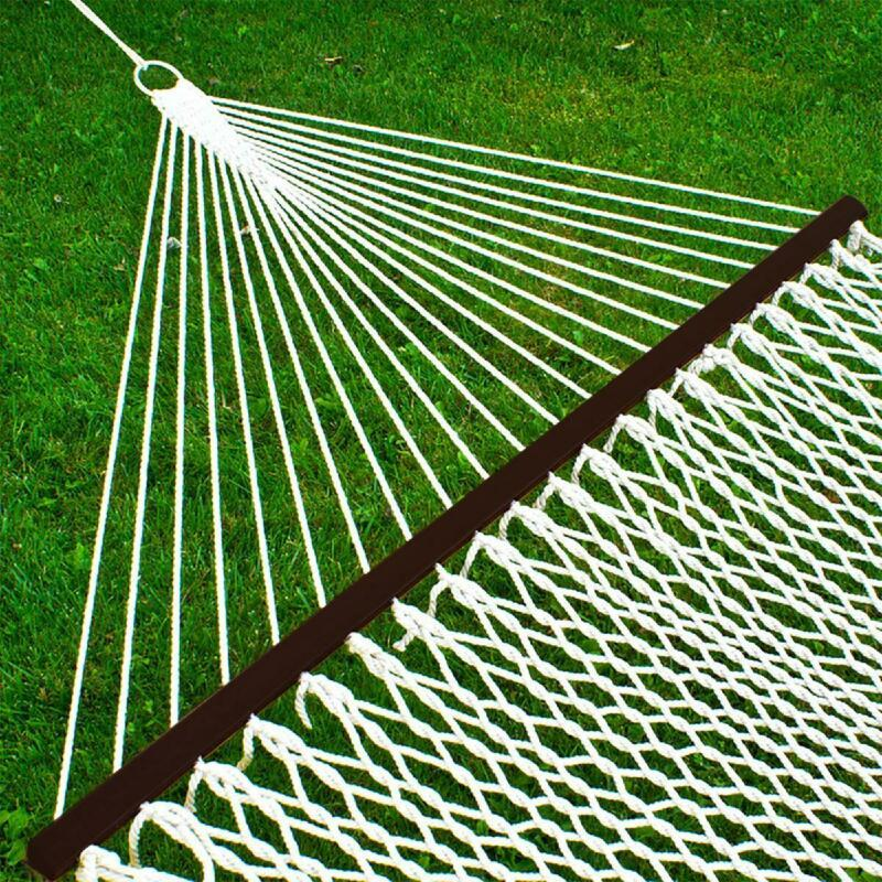 Best Choice Products 2-Person Woven Cotton Rope Double Hammock For Backyard W/ S - $120.11