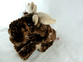 """Plush Moose by Douglas Cuddle Toys 9"""" bean bag Silky Soft veriegated brown - $10.39"""