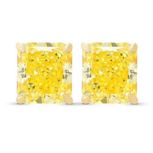Primary image for 1.08Cts Yellow Diamond Stud  Earrings Set in 18K  Yellow Gold GIA  Certificate