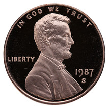 1987-S Lincoln Memorial Cent Penny Gem Proof US Mint Coin Uncirculated UNC - $7.99