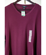 New Alfani Mens L Sweater Burgundy V-Neck Pullover Long Sleeves Shirt NWT - $21.99