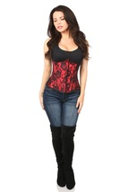 Lavish Red Satin Lace Underbust  Zipper Front Corset ~ to Size 6XL - $59.99