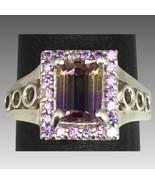 14k Ametrine & Amethyst Ring, FREE SIZING - $379.00