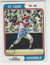 1974 Topps Signed Card Joe Torre Cardinals Braves Mets Yankees Dodgers Hof # 15 - $39.59