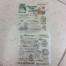 Pair-a-Phrase CC1014 Stamp Set CTMH Close to My Heart Sentiments D1501 E... - $7.49
