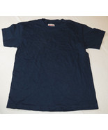 Hanes Heavyweight Youth S 6-8 short sleeve t shirt navy blue cotton NOS - $12.86